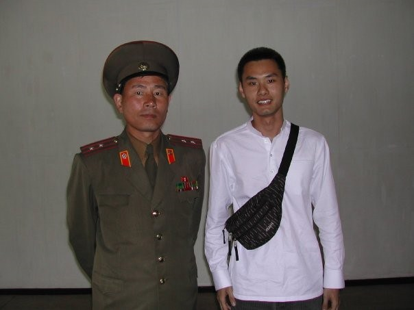 Photo taken with a North Korean officer.
